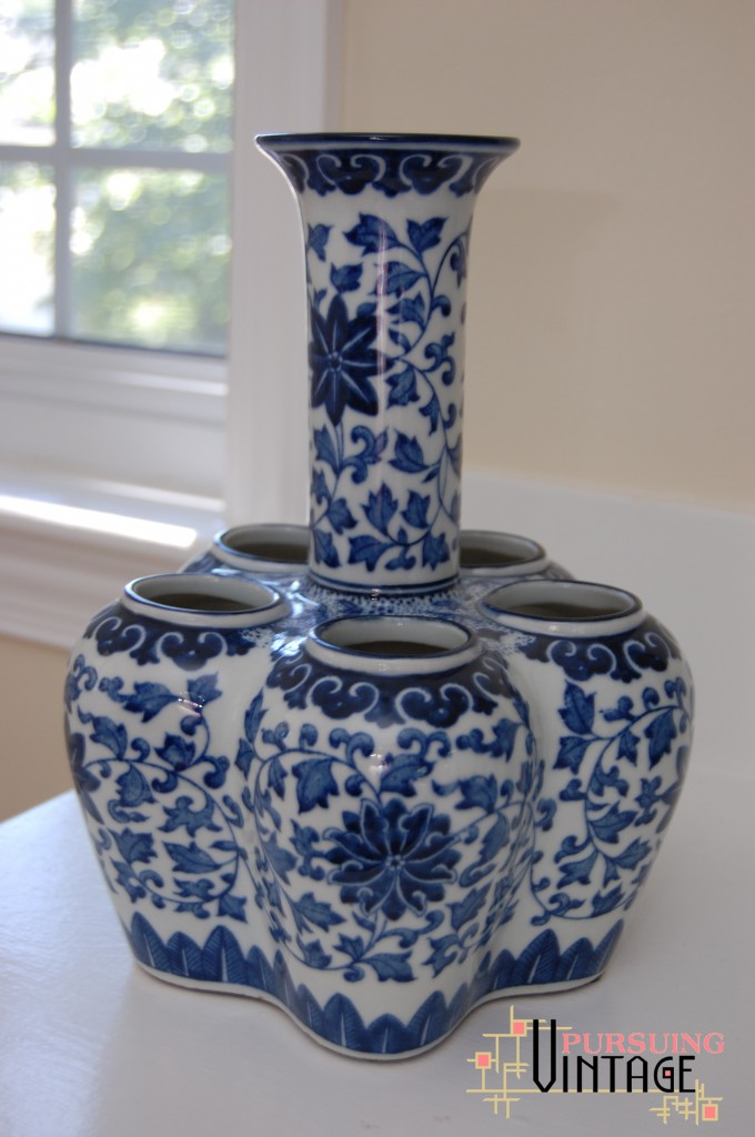 Blue & White Gumps Vase