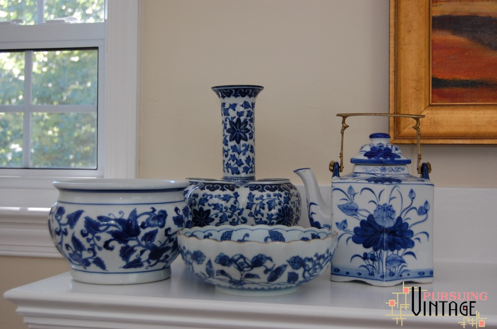 Blue & White Porcelain bowl vase teapot