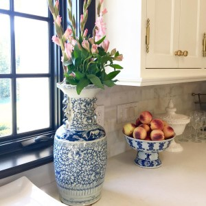 Loving how missyatperch used blueandwhite in her gorgeous kitchen Thankhellip