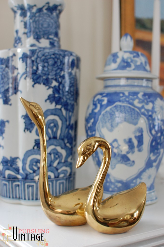 Brass Swan Set from Pursuing Vintage