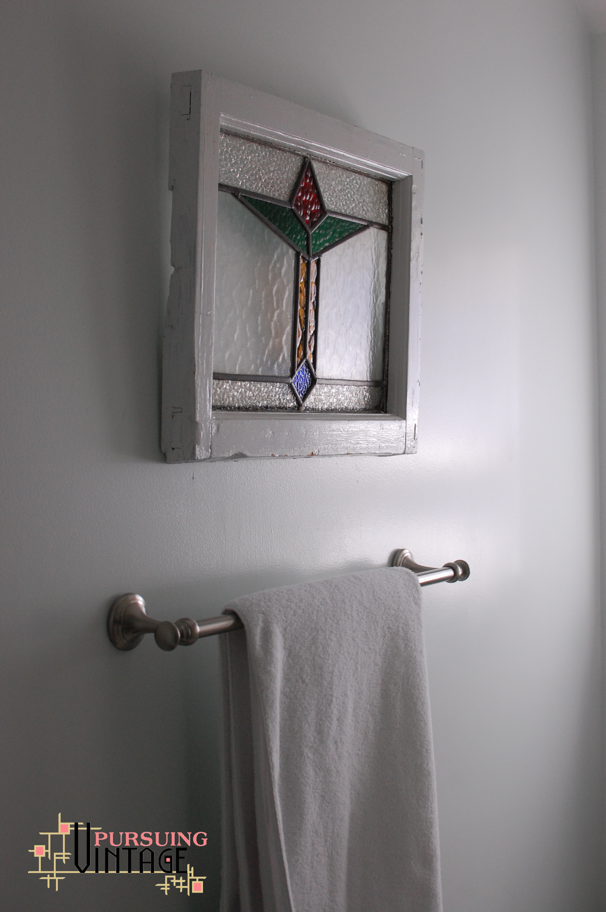 Stained glass small scale for Bathroom designs glass