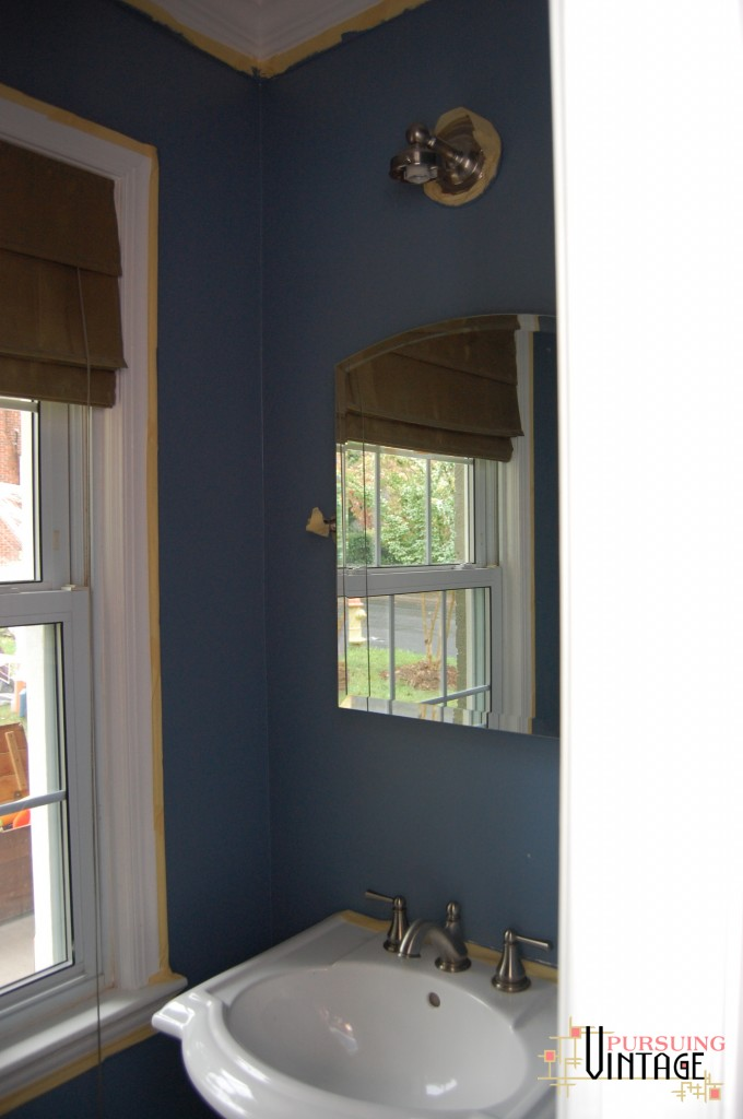 Powder Room Blue Walls