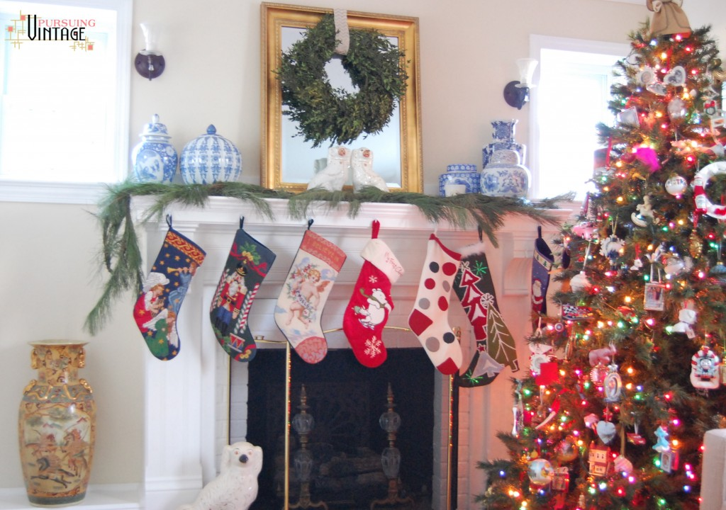 Pursuing Vintage Holiday Home Tour : Fireplace