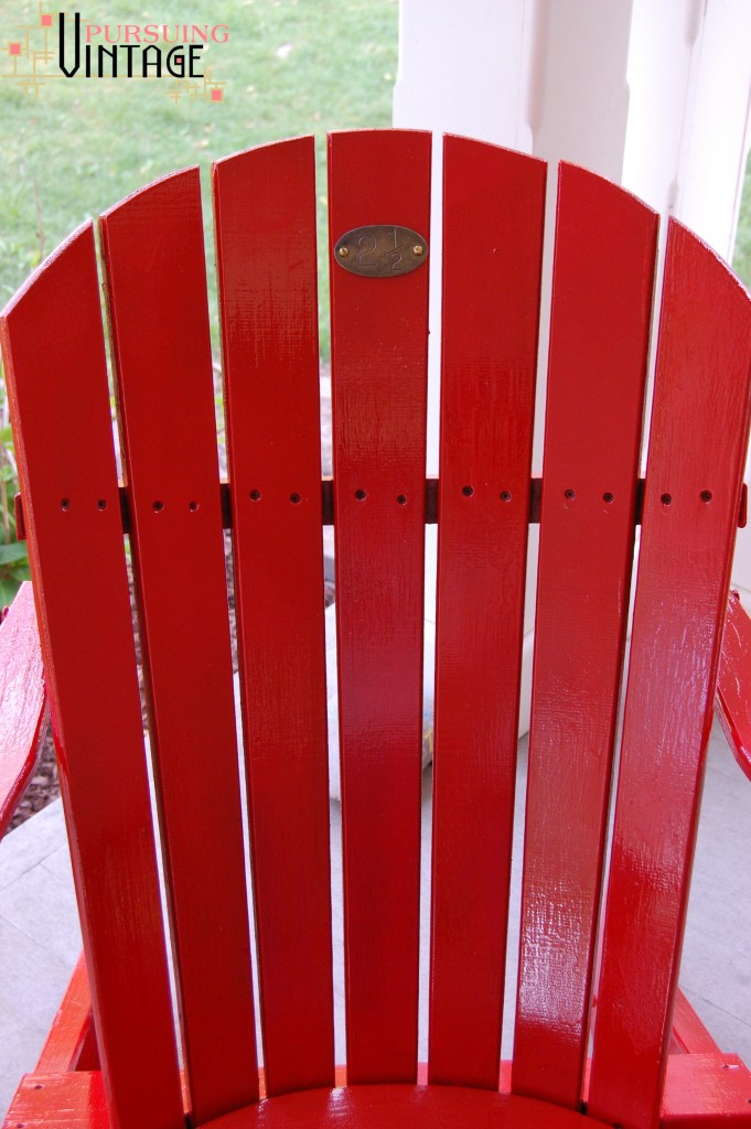 Pursuing Vintage : Red Chair with Vintage Tag