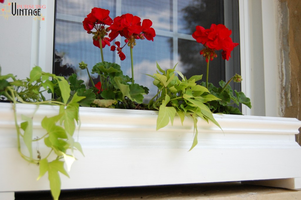 Pursuing Vintage : Salvaged Wood Flower Boxes