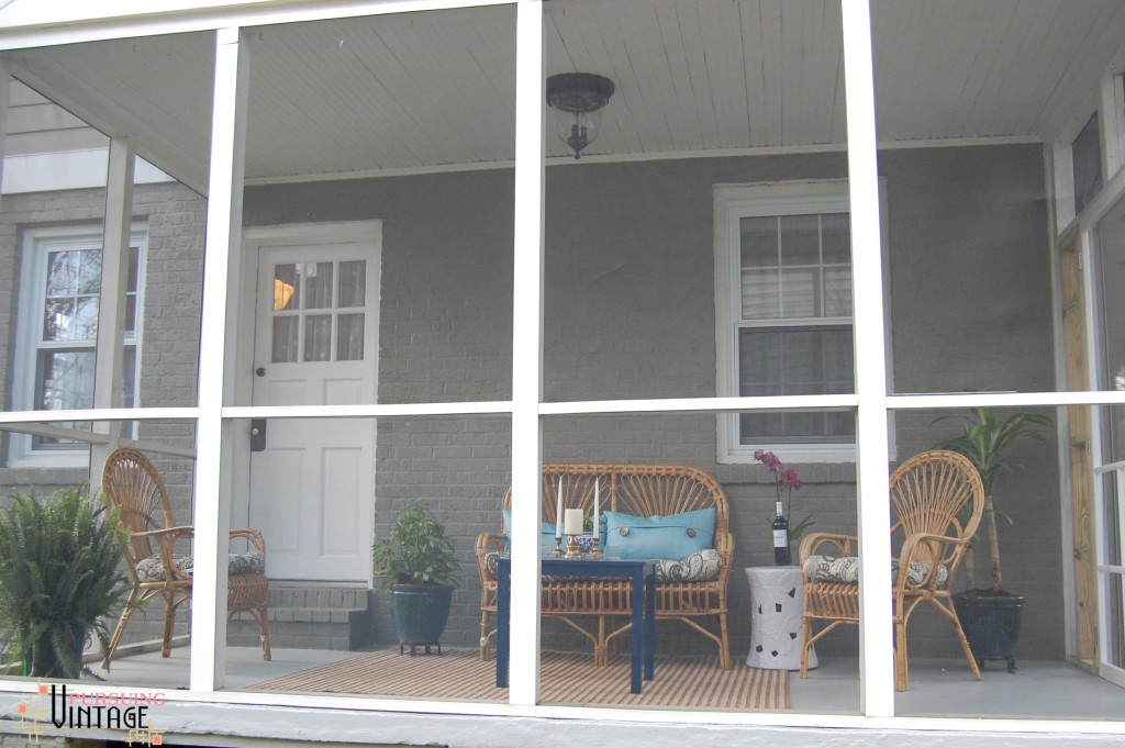 Pursuing Vintage : Screen Porch Makeover
