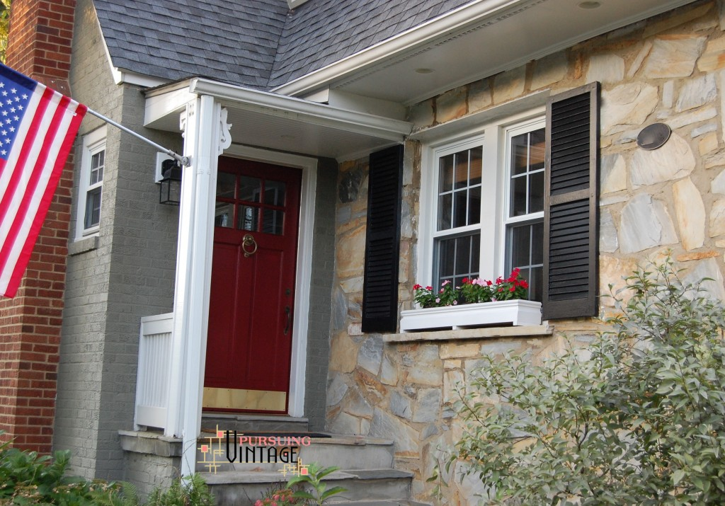 Pursuing Vintage : Front Door & Shutter Paint by Modern Masters