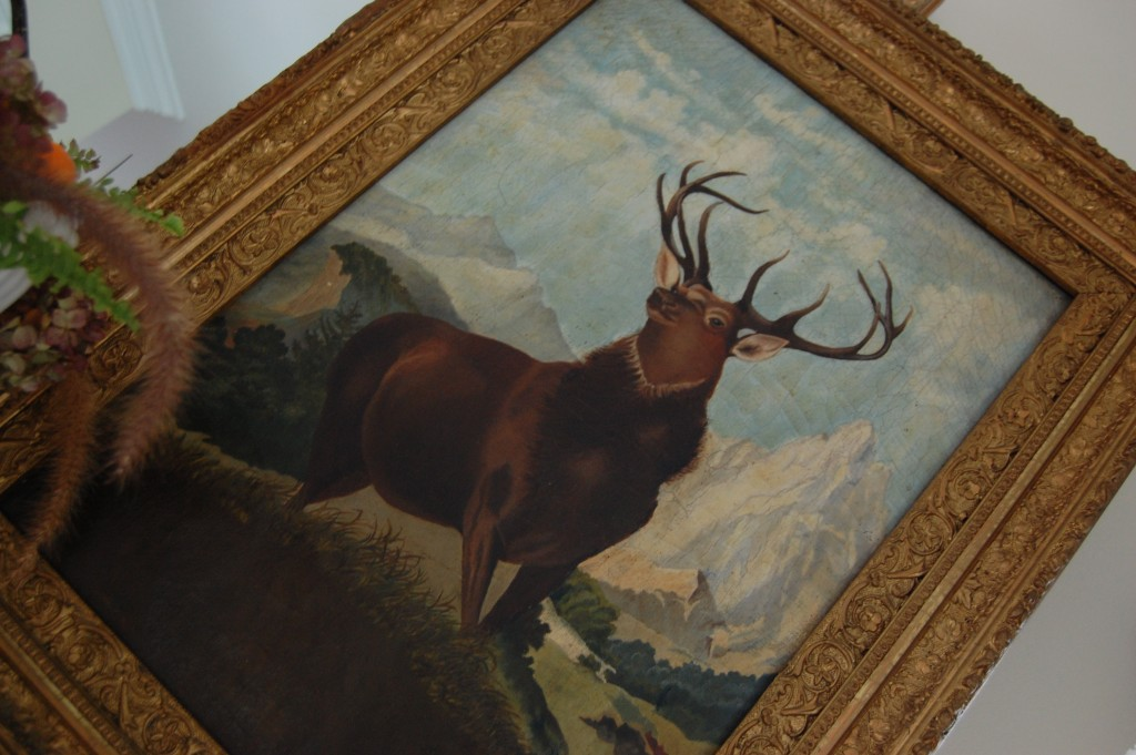 Vintage Oil Painting of a Buck / Pursuing Vintage