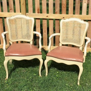 Pair of Louis XV armchairs  terrific lines great caninghellip