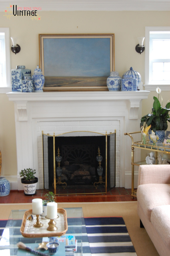 Landscape Painting & Mantel : Pursuing Vintage