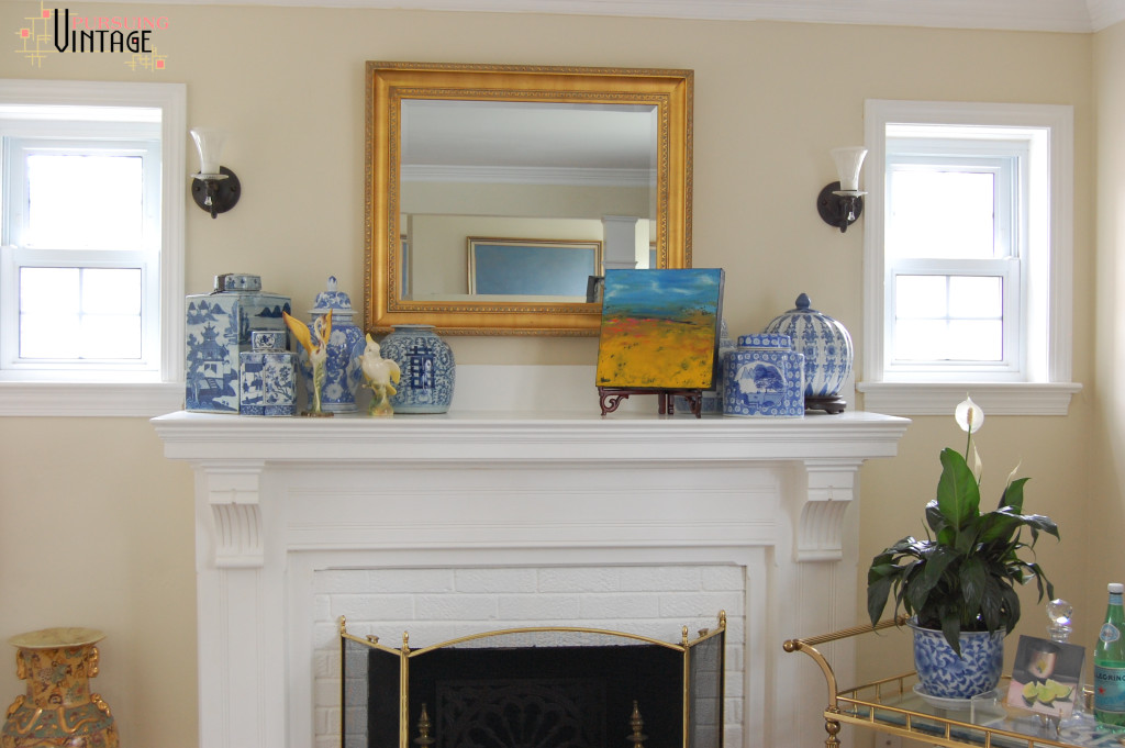 Living Room Mantel : Pursuing Vintage