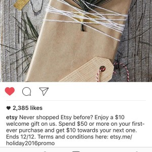Have you seen this etsy deal?! 10 credit on 50hellip