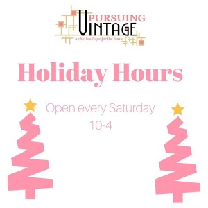 Mark your calendars! Stop in any Saturday until Christmas 104!